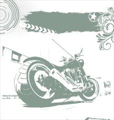 grunge motorbike background