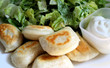 Perogies With Side Salad & Sour Cream
