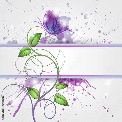 Sfondo con farfalla - Background with butterfly and copy space