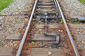Railway Track With Switch Lane Linkage