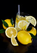 Cocktail with fresh lemons