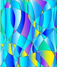 Stained tekstury szkło, niebieski sygnał, wektorowe