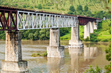 Railway bridge over the river