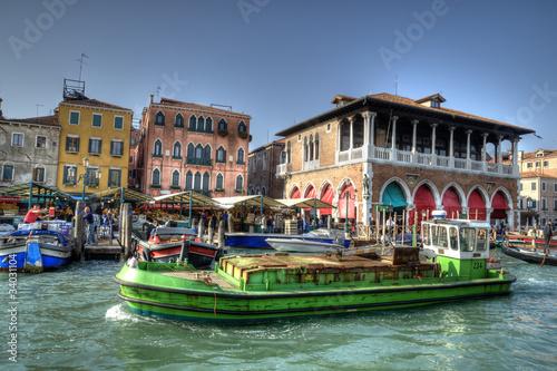 Keuken foto achterwand Venice Rialto Market, Venice, Italy.