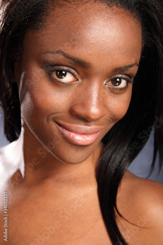Beautiful smiling young african american woman