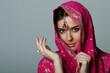 young woman in sari