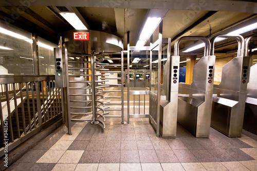 NYC Subway Turnstile - 34036714