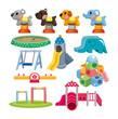 cartoon park playground icon.
