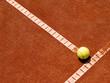 Tennisplatz Linie mit Ball 4