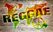 Постер, плакат: World reggae music concept for peace