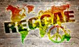 Fototapety World reggae music concept for peace
