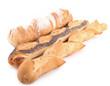 baguettes de pain sur fond blanc