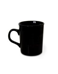 black coffee cup mug with clipping path logo
