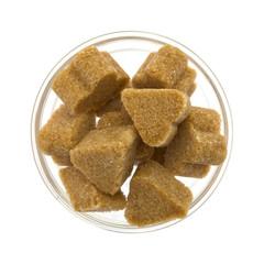 brown sugar in a glass bowl