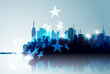 Abstract Cityscape in Blue.