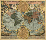 Fototapety Ancient map