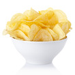Potato chips bowl with clipping path