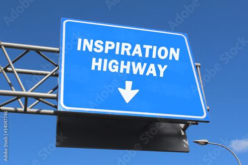 Highway sign - Inspiration highway