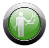 Green Metallic Orb Button
