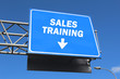 Highway sign - Sales training