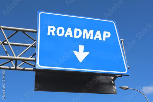 Highway sign - Roadmap