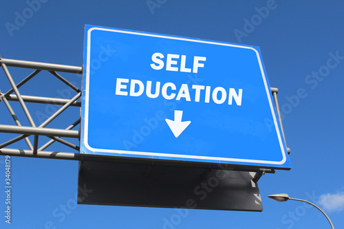 Highway sign - self education
