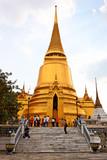 Golden Chedis, Grand Palace - Bangkok, Thailand poster