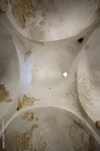 Ceiling arches of the church of the Holy cross