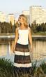 Girl dancing on the lake