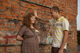 pregnant girl with a guy