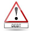 Señal peligro DEBT