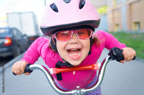 funny girl and bicycle