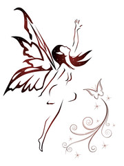 abstract fairy vector
