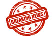 Sternen Stempel rot BREAKING NEWS