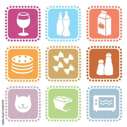 Grocery icons. part II