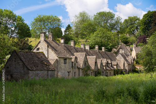 Arlington Row in Bibury, Cotswolds, Gloucestershire, UK