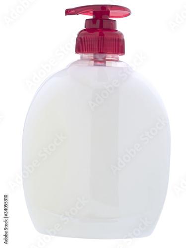 Pojemnik kosmetyczny z dozownikiem Izolowany na białym - 34055310