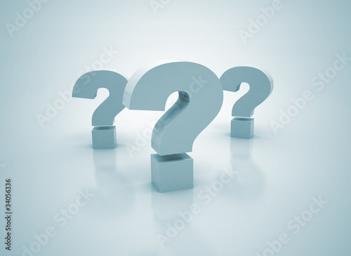 Question Marks - 3D Symbols