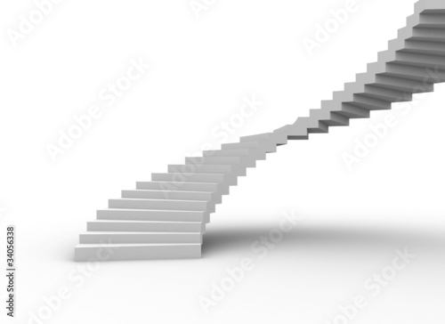 staircase isolated on white