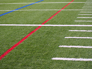 Yard Lines on American Football Field