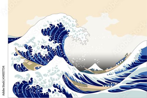 Sticker japan wave