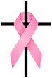 Pink Ribbon Breast Cancer 3D & Cross