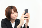 Princess MAIKO Benicio / Laugh with Smart Phone at Office