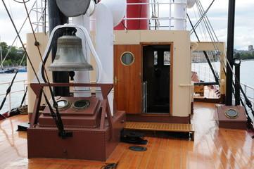 Suède, vieux bateau à Stockholm