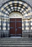 Church doors in the Parish Church in Mayen poster