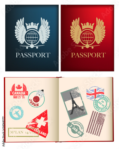 designs for a general not country specific passport