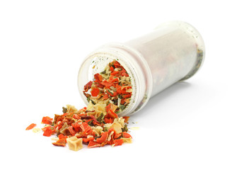 Crushed vegetable flake seasoning