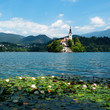 View of  St. Mary´s Church of the Assumptionon in Bled