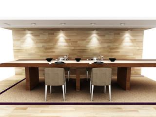 A modern dinning area