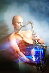 Man playing sax